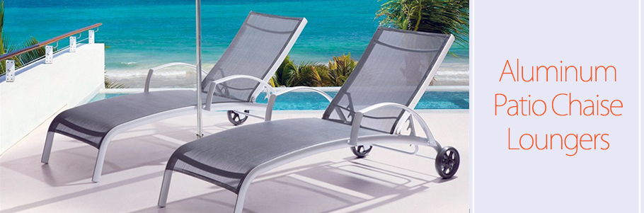 Aluminum Patio Chaise Loungers