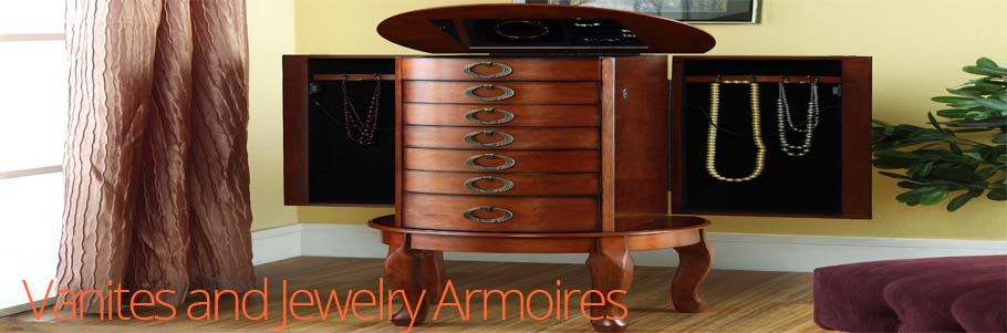 Vanities + Jewelry Armoires