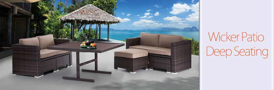 Free Shipping On Most Orders Wicker Patio Deep Seating