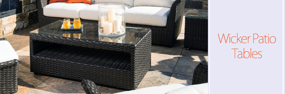 Wicker Patio Tables