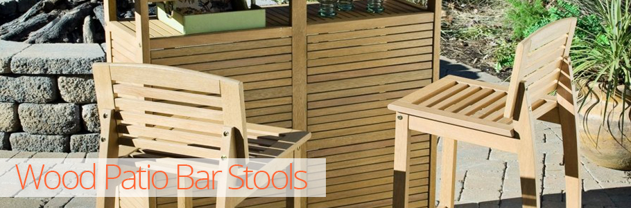 Wood Patio Bar Stools