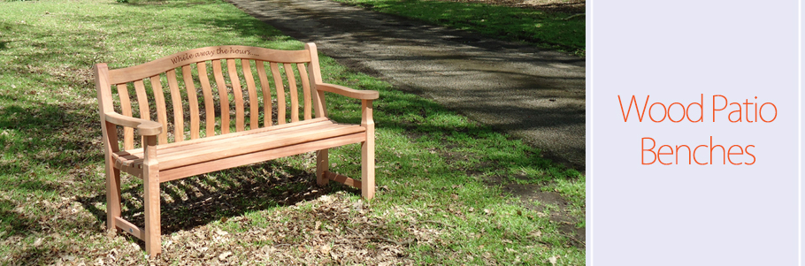 Wood Patio Benches
