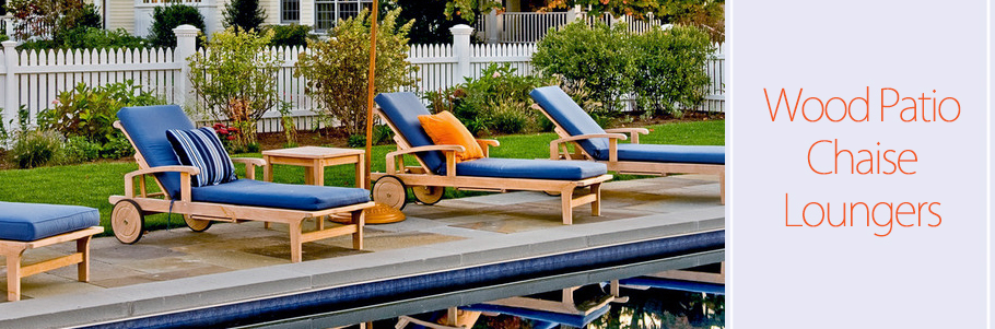 Wood Patio Chaise Loungers