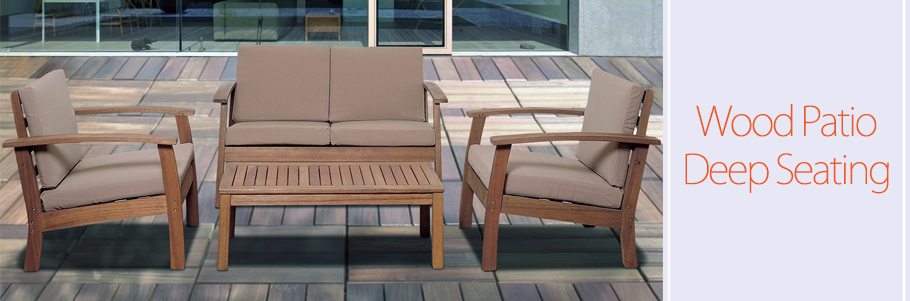 Wood Patio Deep Seating