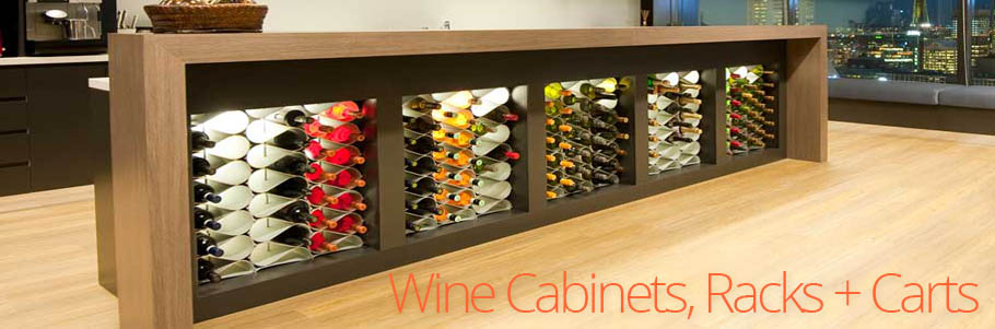Wine Cabinets, Racks + Carts