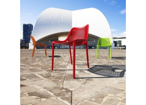 Outdoor Dining Chair - Red