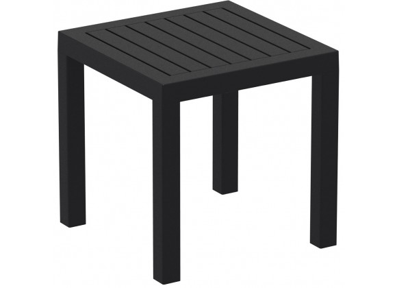 Ocean Square Resin Side Table - Black