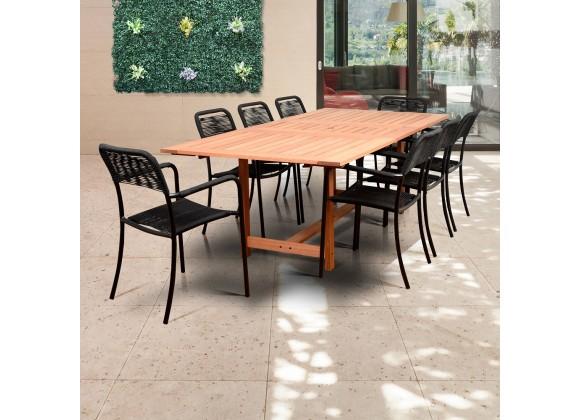 Amazonia Oosterdam 9 Piece Rectangular Patio Dining Set
