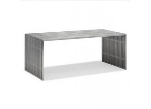 Zuo Modern Novel Dining Table Stainless Steel
