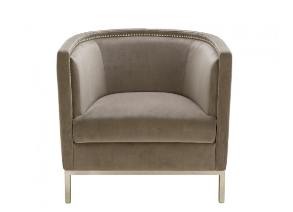 Sunpan Wales Lounge Chair - Grey - Front