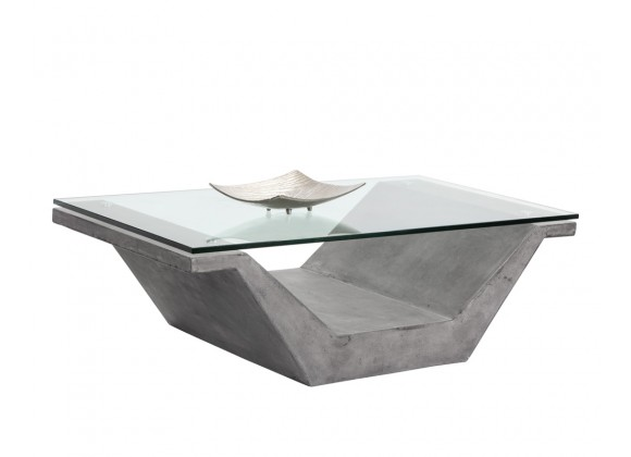 Sunpan Jasper Coffee Table - With Decor