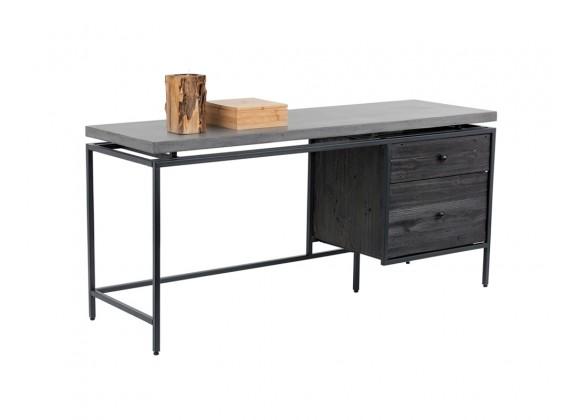 Sunpan Norwood Desk - Angled with Decor
