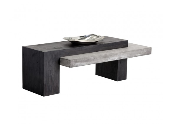 Sunpan Zoron Coffee Table - Rectangular - With Decor