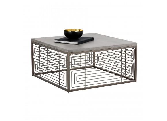 Sunpan Coen Coffee Table - Angled View with Decor