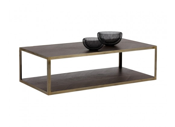 Sunpan Mara Coffee Table - Rectangular - Lifestyle