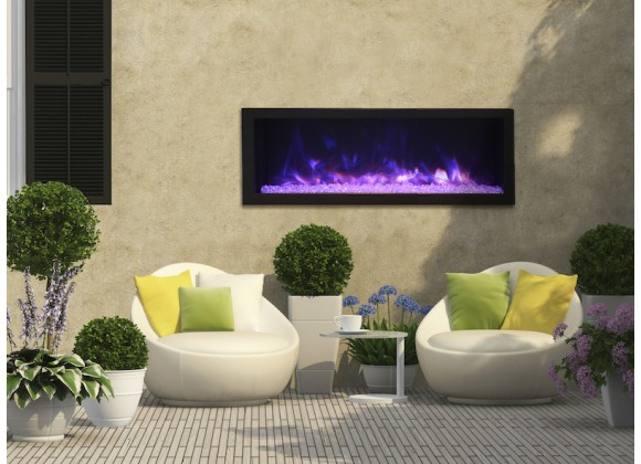 """Remii 45"""" Deep Indoor Or Outdoor Electric Fireplace - Lifestyle 1"""