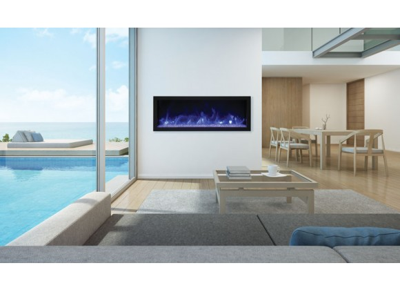 "Remii 45"" Extra Slim Indoor Or Outdoor Electric Fireplace - Lifestyle 1"