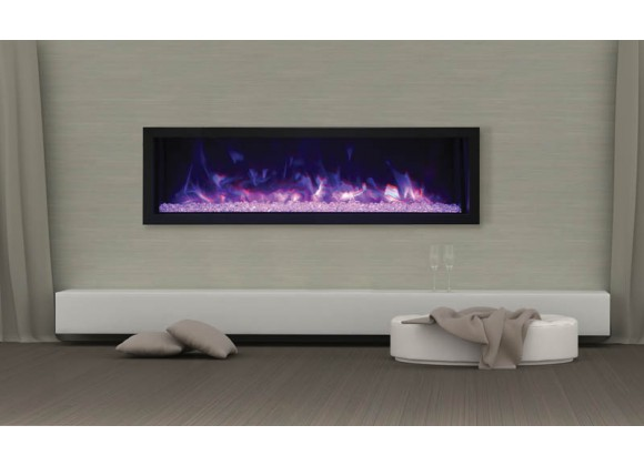 """Remii 55"""" Extra Slim Indoor Or Outdoor Electric Fireplace - Lifestyle 1"""