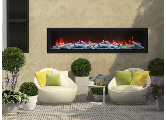 """Remii 65"""" Deep Indoor Or Outdoor Electric Fireplace - Lifestyle 1"""