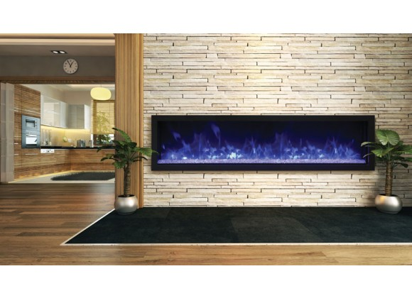 """Remii 65"""" Extra Slim Indoor Or Outdoor Electric Fireplace - Lifestyle 1"""
