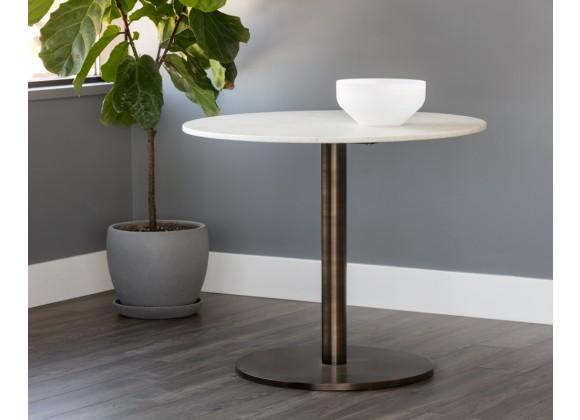 """Sunpan Enco Bistro Table - Round - 35"""" - Lifestyle"""