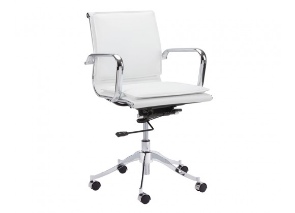 Morgan Office Chair - Snow - Angled View