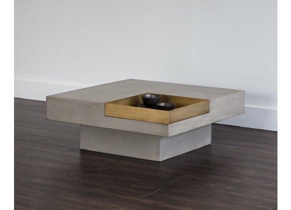 Sunpan Quill Coffee Table - Square - Lifestyle