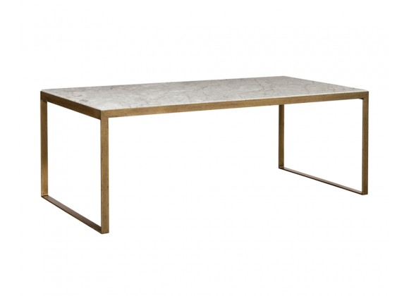 Evert Coffee Table - High - White - Angled