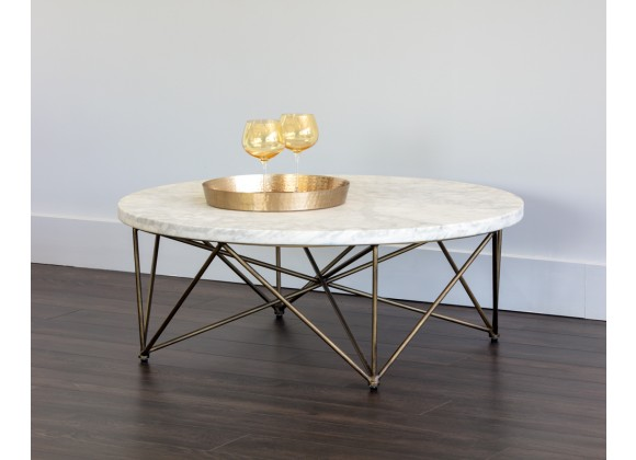 Sunpan Skyy Coffee Table - Round - Lifestyle