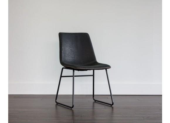 SUNPAN Cal Office Chair - Antique Black, Brown, Grey, Lifestyle