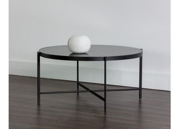 Sunpan Willem Coffee Table - Large - Smoked Glass - Lifestyle