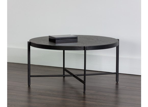Sunpan Willem Coffee Table - Medium in Oak Veneer - Lifestyle