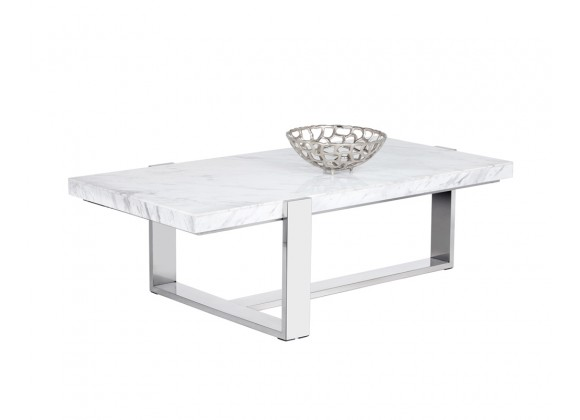 Sunpan Tribecca Coffee Table - Angled with Decor