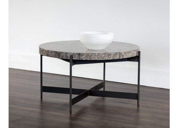 Sunpan Saro Coffee Table - Large - Angled with Lifestyle