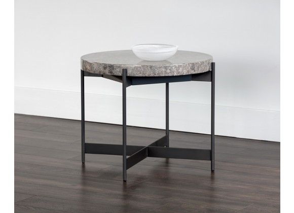 Sunpan Saro Coffee Table - Small - Angled Lifestyle