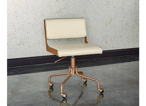 Davis Office Chair - Champagne Gold - Castillo Cream - Liefstyle