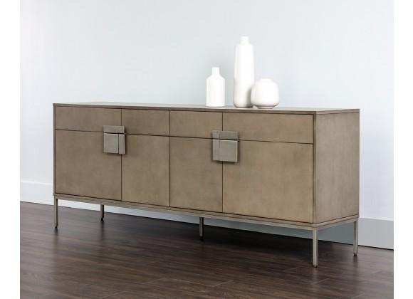 Jade Sideboard - Antique Silver - Ash Grey - Lifestyle