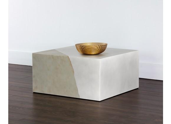 Sunpan Kyson Coffee Table - Silver - Lifestyle