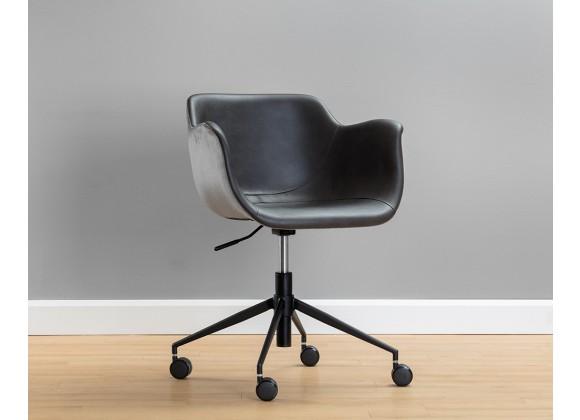 Owen Office Chair - Town Grey / Roman Grey - Lifestyle