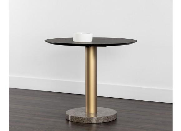 "Sunpan Monaco Bistro Table - Gold - Light Grey Marble / Charcoal Grey - 35.5"" - Lifestyle"