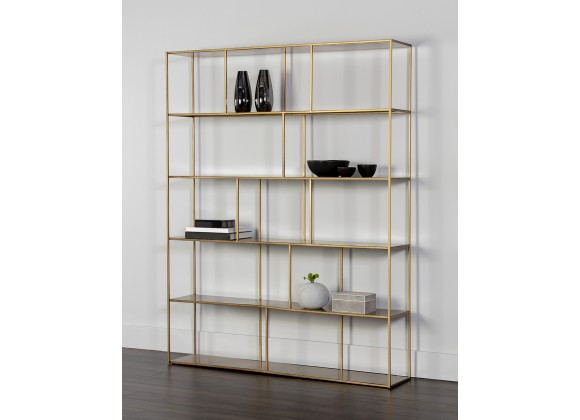 Eiffel Bookcase - Extra Large - Antique Brass - Lifestyle