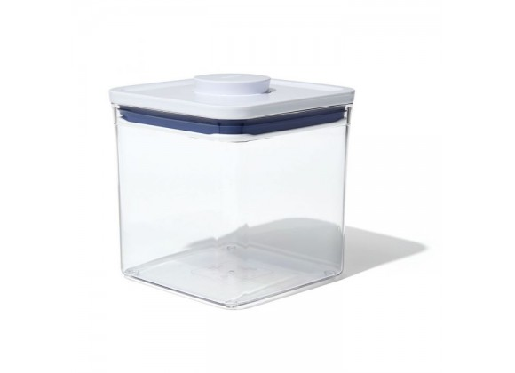 Oxo 2.8 Qt Pop Big Square Short Food Storage Container - Angled