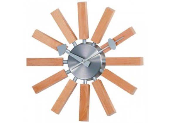 Stilnovo George Nelson Wood Spokes Clock