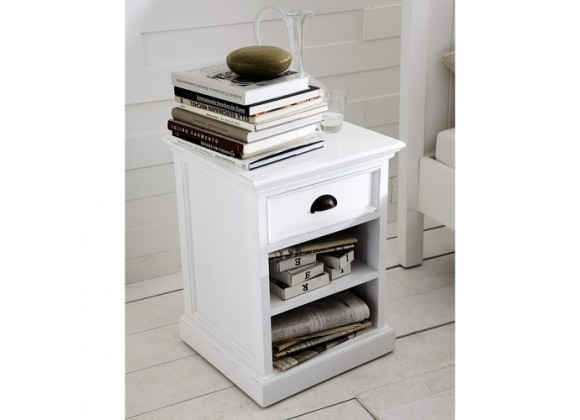 Nova Solo HALIFAX Bedside Table w/ 1 drawer & 2 shelves