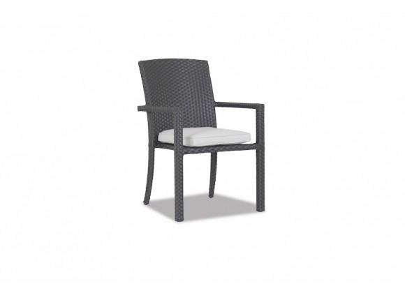 Solana Armless Dining Chair With Cast Silver Cushion