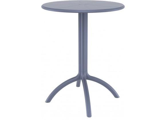 Octopus Round Bistro Table Dark Gray