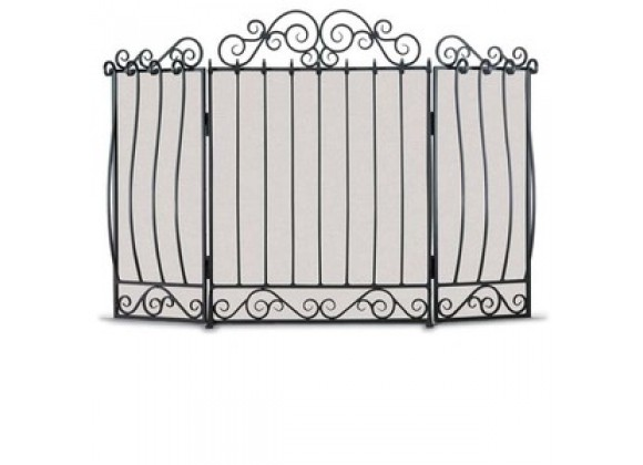 Fireside America Napa Forge Villa 3 Panel Screen in Pewter