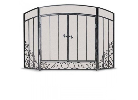 Fireside America Napa Forge 3 Panel Renaissance Screen with Doors