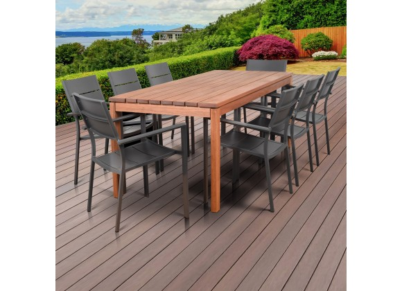 Amazonia Koningsdam 9 Piece Rectangular Patio Dining Set
