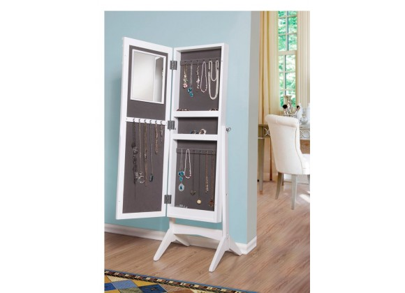 Ashley Jewelry Armoire Cheval Mirror  - Open